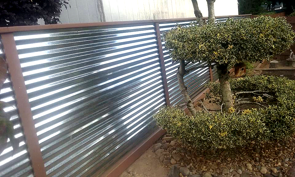 Corrugated Metal Fencing Tacoma Puyallup Fencing Pros