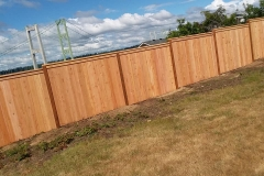 Wooden Fence narrows