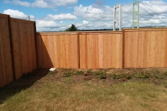 Wooden fence puyallup